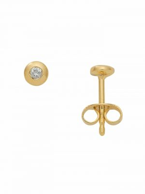 1001 Diamonds Damen Goldschmuck 585 Gold Ohrringe / Ohrstecker mit Brillant Ø 4,2 mm 1001 Diamonds gold