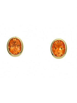 1001 Diamonds Damen Goldschmuck 585 Gold Ohrringe / Ohrstecker mit Citrin 1001 Diamonds gelb