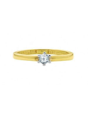 1001 Diamonds Damen Goldschmuck 585 Gold Ring mit Zirkonia 1001 Diamonds gold