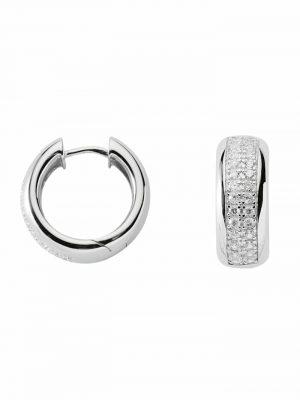 1001 Diamonds Damen Silberschmuck 925 Silber Ohrringe / Creolen mit Zirkonia Ø 19,2 mm 1001 Diamonds silber