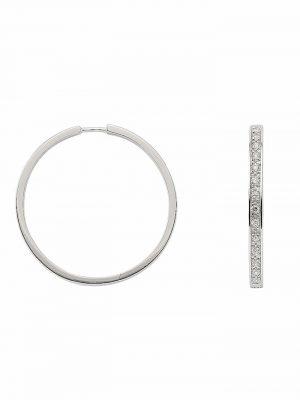 1001 Diamonds Damen Silberschmuck 925 Silber Ohrringe / Creolen mit Zirkonia Ø 37,5 mm 1001 Diamonds silber