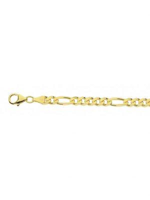 1001 Diamonds Damen Silberschmuck goldplattiert Figaro Halskette 45 cm 1001 Diamonds gold