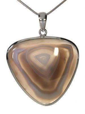 Achat Botswana Schmuck Edelstein Anhänger 925 Silber 1001 Diamonds grün