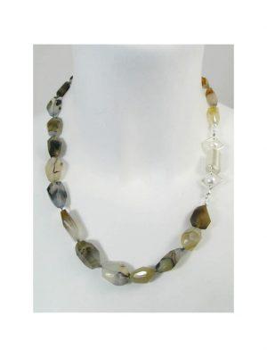 Achat Montana Edelstein Halskette 1001 Diamonds weiss