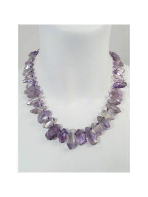 Amethyst Edelstein Halskette 1001 Diamonds violett