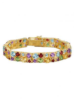 Armband mit Farbsteinen Diemer Farbstein Multicolor