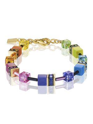 Coeur De Lion 2838/30-1573 Armband GeoCUBE® Swarovski® Rainbow-Gold