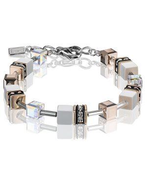 Coeur De Lion 4016/30-1400 Armband GeoCUBE® Weiss Silber-Ton