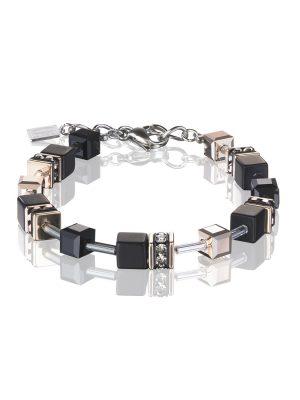 Coeur de Lion 4018/30-1300 Armband Damen GeoCUBE® Swarovski® Onyx