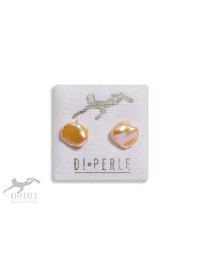 Damen Perlenschmuck 585 Gelbgold Süsswasser Perlen Ohrstecker DI PERLE naturfarbe