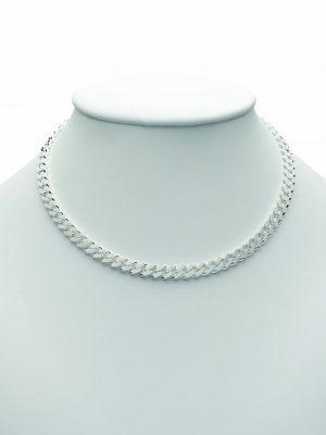 Damen Silberschmuck 925 Silber Flach Panzer Halskette 50 cm 1001 Diamonds silber