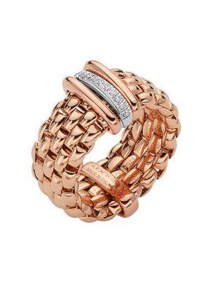 Fope Damenring Flex-it Ring 18kt Gold AN587 BBRM R W