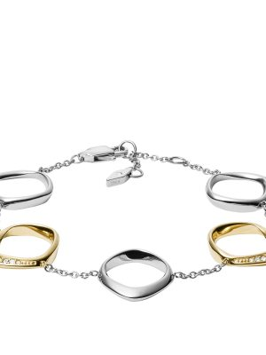Fossil JF03201998 Armband Damen Twisted Edelstahl Silber-Gold-Ton
