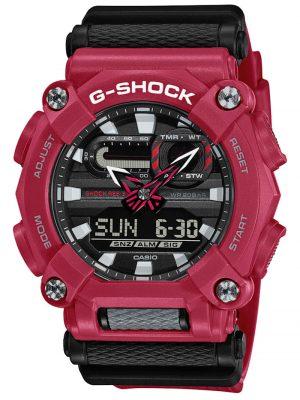 G-Shock Herrenuhr Rot/Schwarz Casio Schwarz