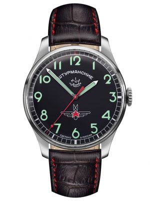 Herren-Armbanduhr Gagarin Vintage Retro Sturmanskie Schwarz