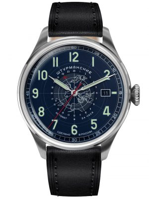 Herren-Armbanduhr Heritage Arctic Automatik 24h Blau Sturmanskie Blau