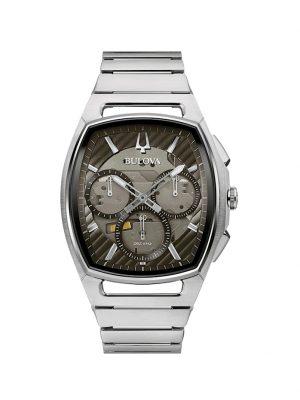 Herren-Chronograph Bulova Silberfarben