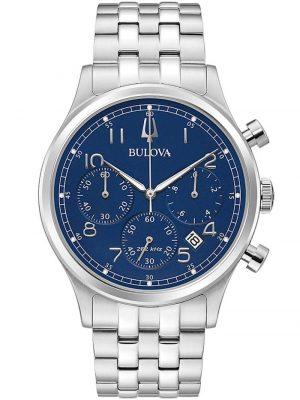 Herrenuhr Chronograph Classic Blau Bulova Blau