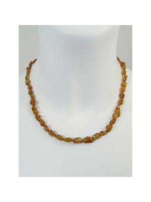 Hessonit Edelstein Halskette 1001 Diamonds braun