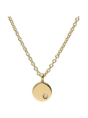 Kette rund mit Diamant, Gold 585 Luigi Merano Gelb