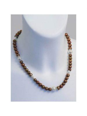 Perle Edelstein Halskette 1001 Diamonds bunt