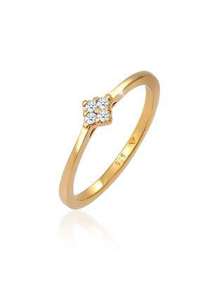Ring Verlobung Klassisch Diamant 0.08 Ct. 925 Silber Elli DIAMONDS Gold