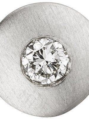 SIGO Anhänger rund 950 Platin matt 1 Diamant Brillant 0,25ct. Platinanhänger