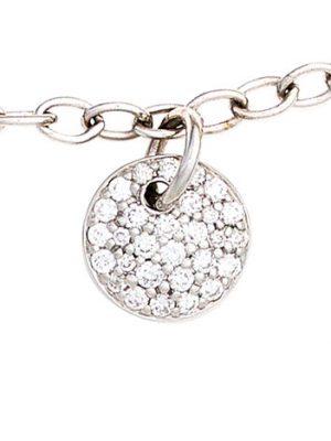SIGO Armband 585 Gold Weißgold 29 Diamanten Brillanten 18,5 cm Weißgoldarmband