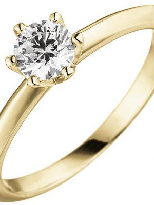 SIGO Damen Ring 585 Gold Gelbgold 1 Diamant Brillant 0,70 ct. Diamantring Solitär