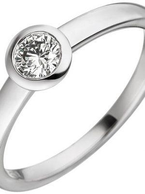 SIGO Damen Ring 585 Gold Weißgold 1 Diamant Brillant 0,25ct. Weißgoldring Diamantring