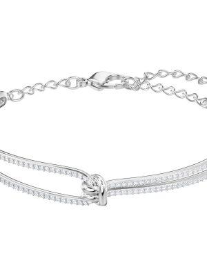 Swarovski 5368552 Armreif Damen Lifelong Weiss Silber-Ton