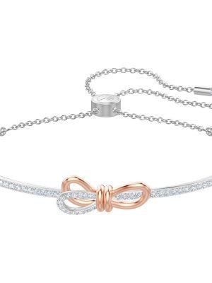 Swarovski 5447079 Armreif Lifelong Bow Weiss Silber-Rosé-Ton