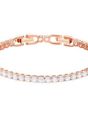Swarovski 5464948 Tennis-Armband Damen Weiss Rosé Vergoldung
