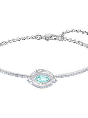 Swarovski 5485722 Armband Armreif Damen Sparkling Dance Grün Silber-Ton