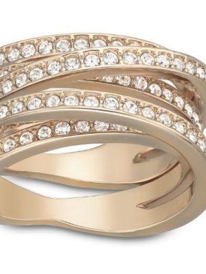 Swarovski Ring - Spiral, rosa vergoldet - 5063923