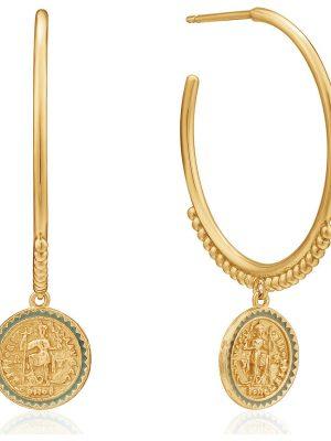 Ania Haie Damen-Creole Emperoe Hooü Earring 925er Silber