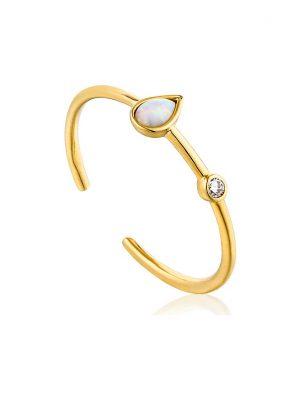 Ania Haie Damenring Opal Raindrop Adjustable Ring R014-02G
