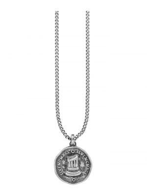 Caï Herren-Herrenkette 925er Silber Spinell CAI grau