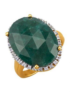 Damenring mit Smaragd KLiNGEL Grün