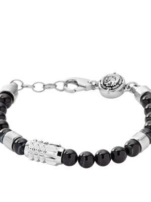 Diesel DX0847040 Armband Herren Beads Achat Silber-Ton