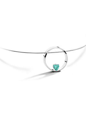 FJF JEWELLERY Halskette - Herz Aqua - FJF0010001SAQ