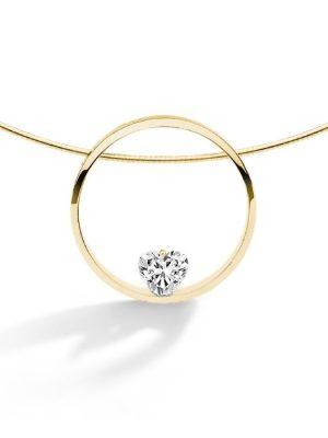 FJF JEWELLERY Halskette - Herz Weiß - FJF0010001YWH