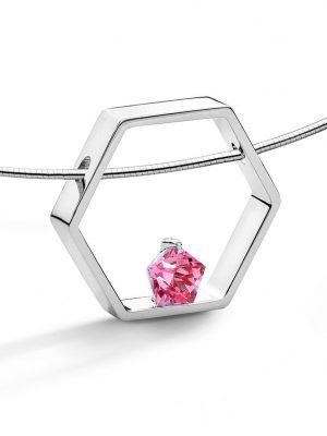FJF JEWELLERY Halskette - Pentagon Pink - FJF0010003SPI