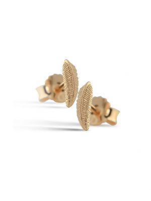 Jeberg Ohrstecker - Mini Feather - 5010-Gold