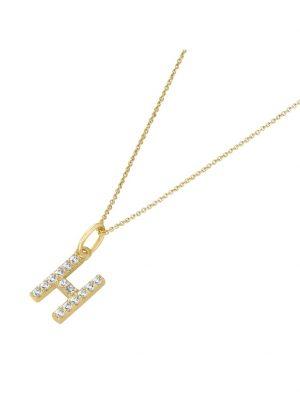 Kette Anhänger Buchstabe H mit Zirkonia, Gold 375 Luigi Merano Gold
