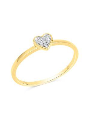 Ring 585/- Gold Brillant weiß Diamant Glänzend 0,025ct. Diamonds by Ellen K. gelb