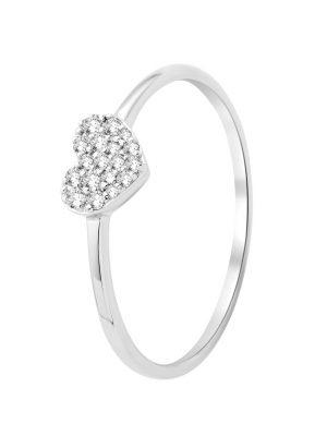 Ring 'Herz' aus 375 Weißgold mit 0.10 Karat Diamanten-07