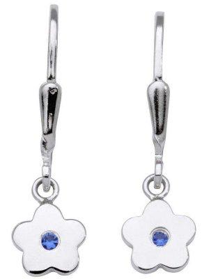 Schneider Basic Ohrringe - Silber - Blume hängend Blau - SK05