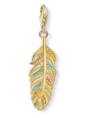 Thomas Sabo 1829-488-7 Charm-Anhänger Feder Silber Vergoldet