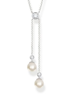 Thomas Sabo KE1905-167-14 Kette mit Anhänger Perlenkette Silber